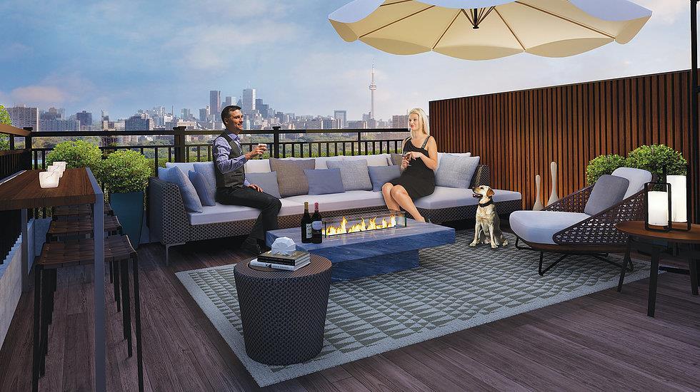 Custom Home - Brownstones Rooftop