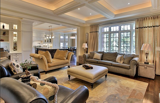 Custom Home - Living Room
