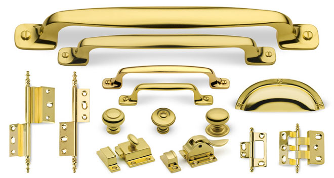 Hardware Finish Custom Home Polished Brass