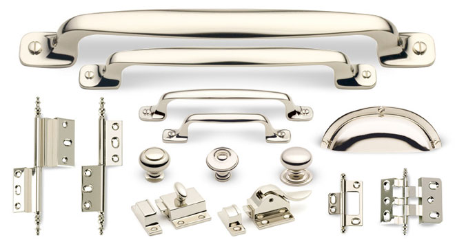 Hardware Finish Custom Home Polished Nickel