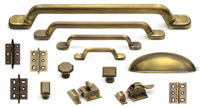 Hardware Finish Custom Home Antique Brass